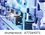robotic machine vision system... | Shutterstock . vector #677264371
