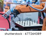 robotic and automation system... | Shutterstock . vector #677264389