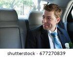 groom in the wedding car   Shutterstock . vector #677270839