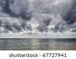 a storm builds up over the... | Shutterstock . vector #67727941