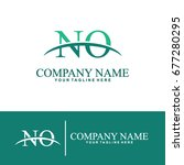 business of n and o initial... | Shutterstock .eps vector #677280295
