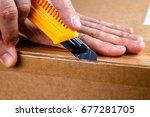 unboxing  | Shutterstock . vector #677281705
