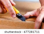 unboxing  | Shutterstock . vector #677281711