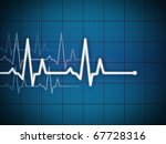 cardiogram illustration with... | Shutterstock . vector #67728316