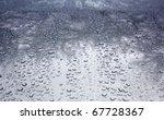 Rain Drops On A Waxed Silver...