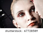 cute girl in gothic dress | Shutterstock . vector #67728589