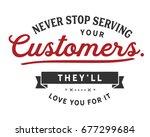 never stop serving your...   Shutterstock .eps vector #677299684