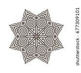 beautiful strict mathematical... | Shutterstock . vector #677309101