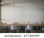 interior design of a happy... | Shutterstock . vector #677309299