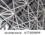 abstract steel structure | Shutterstock . vector #677309899