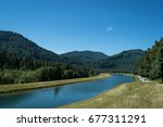 on road ninety along southern...   Shutterstock . vector #677311291