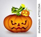 halloween pumpkin jack o... | Shutterstock .eps vector #677311564