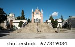 the cimitero monumentale ... | Shutterstock . vector #677319034