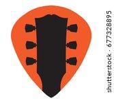 guitar headstock in guitar pick ... | Shutterstock .eps vector #677328895