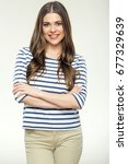young woman in casual clothes... | Shutterstock . vector #677329639
