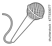 microphone icon. outline...