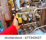 personal h2s gas detector check ... | Shutterstock . vector #677343427