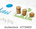 graphs and charts with stacks...   Shutterstock . vector #67734829