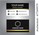 black and white business card | Shutterstock .eps vector #677349979