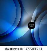 digital illustration  glowing... | Shutterstock . vector #677355745