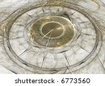 an old clock with marble face | Shutterstock . vector #6773560