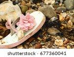 child's flip flop footwear... | Shutterstock . vector #677360041