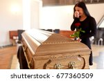 people and mourning concept  ... | Shutterstock . vector #677360509