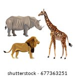 white background with set... | Shutterstock .eps vector #677363251