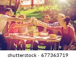 leisure  holidays  eating ... | Shutterstock . vector #677363719