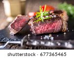 Grill Juicy Beef Steak With...