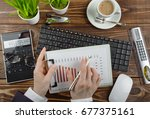 business accounting   Shutterstock . vector #677375161