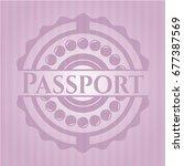 passport realistic pink emblem   Shutterstock .eps vector #677387569