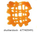 caramel syrup design element on ... | Shutterstock . vector #677405491