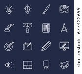 set of 16 constructive outline... | Shutterstock .eps vector #677422699