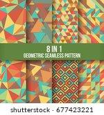 geometric seamless pattern... | Shutterstock .eps vector #677423221