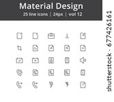 material design ui line icons