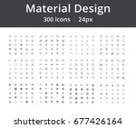 bundle of 300 icons. material... | Shutterstock .eps vector #677426164