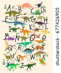 learning alphabets with... | Shutterstock .eps vector #677426905
