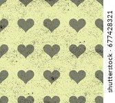 simple hearts seamless vector... | Shutterstock .eps vector #677428321