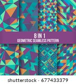 geometric seamless pattern... | Shutterstock .eps vector #677433379