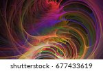 abstract fractal. decoration... | Shutterstock . vector #677433619