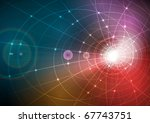 glow from constructive tunnel | Shutterstock . vector #67743751
