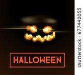 halloween fire light back | Shutterstock .eps vector #677442055