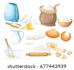 cooking vector illustration.... | Shutterstock .eps vector #677443939
