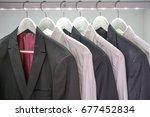 men's modern white shirts and... | Shutterstock . vector #677452834