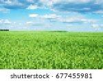 background of mosaic landscape... | Shutterstock .eps vector #677455981