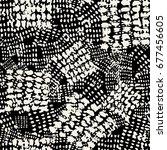 seamless brushpen textile... | Shutterstock .eps vector #677456605
