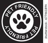 pet friendly stamp  white... | Shutterstock .eps vector #677461894