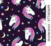 cute raster  pattern with... | Shutterstock . vector #677463649