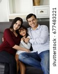 happiness times with family. ... | Shutterstock . vector #677483221